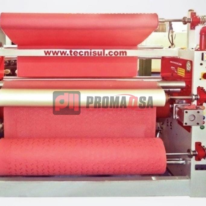 Máquina de bondear de doble prensa  (tejido bondeado con película).
