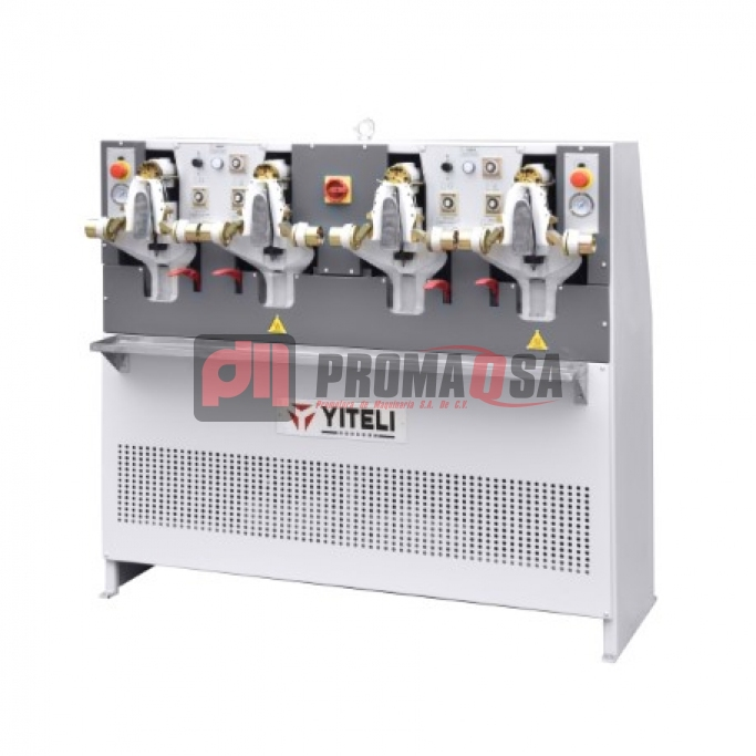 Máquina de cerrar bocas de 2 estaciones frío/calor manual y máquina de cerrar bocas 4 estaciones frío/calor manual.