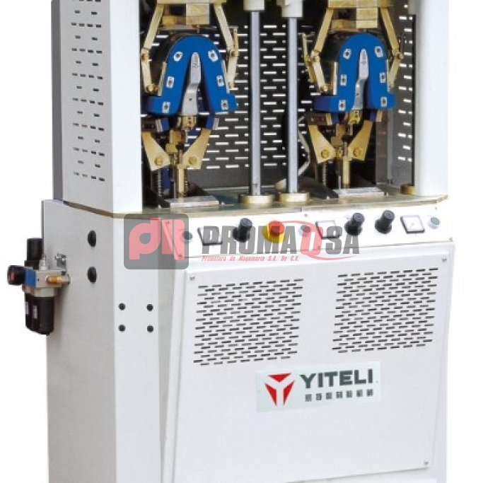 Máquina de conformar talón 2 estaciones 1 frío-1 calor con cojín duro.