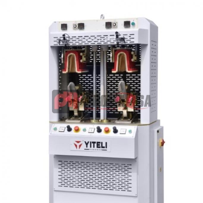 Máquina de conformar talón 2 estaciones frío-calor con cojín inflable.