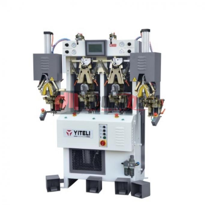 Máquina de conformar talón 4 estaciones 2 frío/2calor con cojín curo con CPU automática. Mod. YZ-498