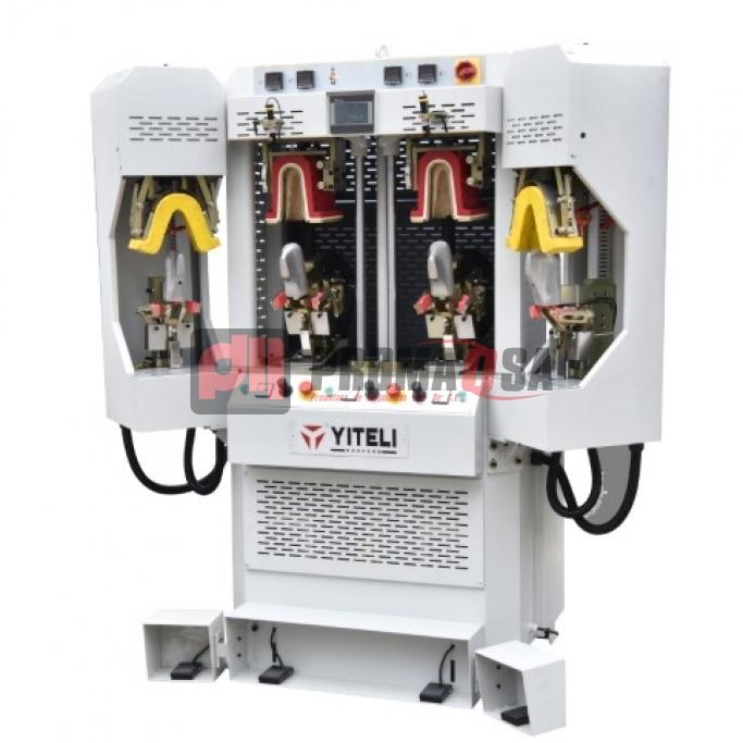 Máquina de conformar talón con frío cojín inflable y calor cojín duro.