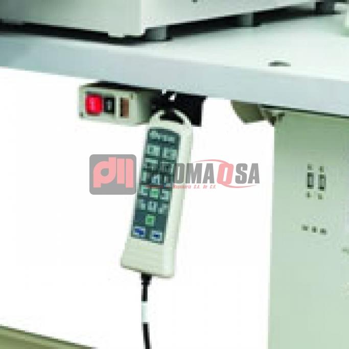 Máquina de pespunte programada computarizada.