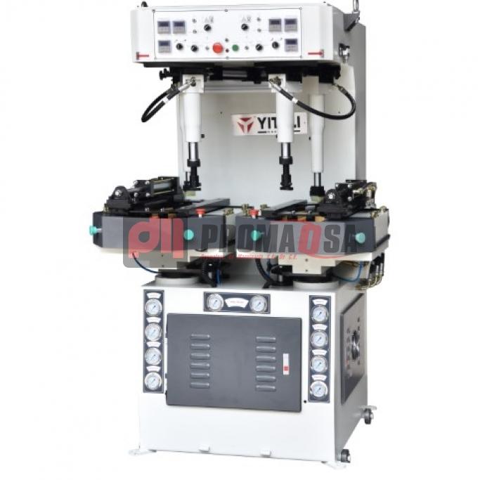 Máquina de pegar hidráulica de bloques laterales punta y talón.