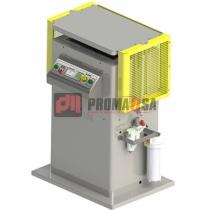 Máquina para vaporización de cuero.