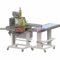 Máquina rotativa de aplicar etiquetas transfer.